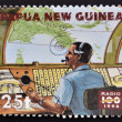 PAPUA NEW GUINEA - CIRCA 1996: A stamp printed in Papua dedicated to 100 years of radio, circa 1996 — Stock Photo