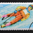 POLAND - CIRCA 1971: A stamp printed in Poland shows Toboggan, circa 1971 — Stock Photo