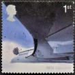Royalty-Free Stock Photo: UK - CIRCA 2002: A stamp printed in Great Britain dedicated to 50th Anniversary of Passenger Jet Aviation, Airliners, shows Concorde (1976), circa 2002