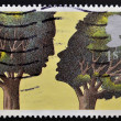 Royalty-Free Stock Photo: UNITED KINGDOM - CIRCA 1995: A stamp printed in Great Britain shows 'Troilus and Criseyde' by Peter Brookes, circa 1995