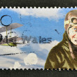 UNITED KINGDOM - CIRC2003: stamp printed in Great Britain shows flight pioneer, Amy Johnson, circ2003 — Stock Photo #12365853