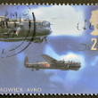 Stock Photo: UNITED KINGDOM - CIRC1997: stamp printed in Great Britain featuring RAF Avro night bomber aircraft, circ1997