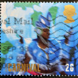 UNITED KINGDOM - CIRCA 1998: A stamp printed in Great Britain shows Woman in Blue Costume and Headdress, Carnival (Europa), circa 1998 — Stock Photo
