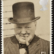 Постер, плакат: UNITED KINGDOM CIRCA 1974: A stamp printed in Great Britain showing Sir Winston Churchill circa 1974