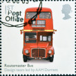 Stock Photo: UNITED KINGDOM - CIRC2009: stamp printed in Great Britain dedicates to Design Classics, shows Routemaster Bus by A.A.M. Durrant, circ2009
