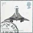 UNITED KINGDOM - CIRCA 2009: A stamp printed in Great Britain dedicates to Design Classics, shows Concorde by Aerospatiale-BAC, circa 2009 — ストック写真