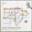 Stock Photo: UNITED KINGDOM - CIRC2009: stamp printed in Great Britain dedicates to Design Classics, shows London Underground Map by Harry Beck, circ2009