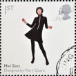 UNITED KINGDOM - CIRC2009: stamp printed in Great Britain dedicates to Design Classics, shows Mini Skirt by Mary Quant, circ2009 — Stock Photo #12365956