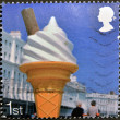 UNITED KINGDOM - CIRCA 2007: A stamp printed in Great Britain dedicated to Beside the Seaside, shows 99 Ice Cream Cone, circa 2007 — Stock Photo