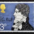 UNITED KINGDOM - CIRC1971: stamp printed in Great Britain shows John Keats, circ1971 — Stock Photo #12366025