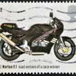 Royalty-Free Stock Photo: UNITED KINGDOM - CIRCA 2005: A stamp printed in Great Britain shows Norton F.1, Road Version of Race Winner (1991), circa 2005
