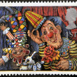 Stock Photo: UNITED KINGDOM - CIRCA 1995: A stamp printed in Great Britain shows 'Circus Clowns' (Emily Firmin and Justin Mitchell), circa 1995