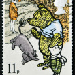 "UNITED KINGDOM - CIRCA 1979: A stamp printed in Great Britain shows illustration from a children's book ""Winnie the Pooh"" , circa 1979 — Stock Photo #12366140"