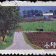 UNITED STATES OF AMERIC- CIRC2012: stamp printed in USshows Lancaster county, Pennsylvania, circ2012 — Stock Photo #12366169