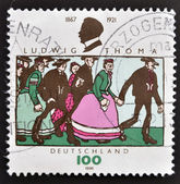 GERMANY - CIRCA 1996: A stamp printed in Germany dedicated to Ludwig Thoma, circa 1996 — Foto Stock