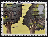 UNITED KINGDOM - CIRCA 1995: A stamp printed in Great Britain shows 'Troilus and Criseyde' by Peter Brookes, circa 1995 — Stock Photo