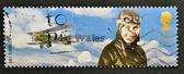 UNITED KINGDOM - CIRCA 2003: A stamp printed in Great Britain shows flight pioneer, Amy Johnson, circa 2003 — Stock Photo