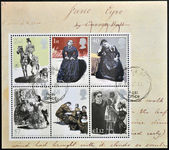 UNITED KINGDOM - CIRCA 2005: Collection stamps printed in Great Britain dedicated to Charlotte Bronte shows Jane Eyre, circa 2005 — Stock Photo