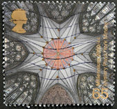 UNITED KINGDOM - CIRCA 2000: A stamp printed in Great Britain shows Chapter House Ceiling, York Minster (York Milennium Mystery Plays), circa 2000 — Stock Photo