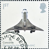 UNITED KINGDOM - CIRCA 2009: A stamp printed in Great Britain dedicates to Design Classics, shows Concorde by Aerospatiale-BAC, circa 2009 — Stock Photo