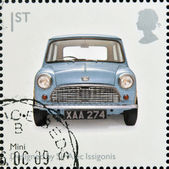 UNITED KINGDOM - CIRCA 2009: A stamp printed in Great Britain dedicates to Design Classics, shows Mk 1 Austin Mini by Sir Alec Issigonis, circa 2009 — Stock Photo
