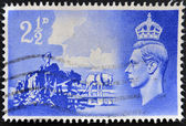 UNITED KINGDOM - CIRCA 1948: A stamp printed in Great Britain dedicated to Channel Islands Liberation, circa 1948 — Stock Photo