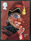 UNITED KINGDOM - CIRCA 2001: A stamp printed in Great Britain shows Mr. Punch, circa 2001 — Stock Photo