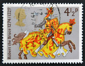 UNITED KINGDOM - CIRCA 1974: A stamp printed in the Great Britain shows Robert the Bruce, circa 1974 — Foto Stock