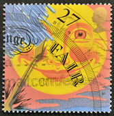 UNITED KINGDOM - CIRCA 2001: A stamp printed in Great Britain dedicated to the weather, shows fair, circa 2001 — Stock Photo