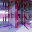 Modern interior exhibition hall - Stock Photo