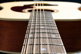 Close-up of an acoustic twelve strings guitar — Стоковое фото