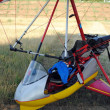 Colorful hang gliders ready for the take off — Stock Photo