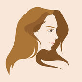 Woman's profile — Stock Vector