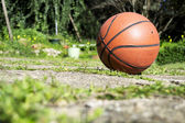 Basketball on the ground — Stock Photo