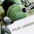 Logbook and other tools — Stock Photo