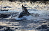 Splashes and waves — Stock Photo