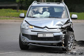 Citroen C-Crosser after the accident — Stock Photo