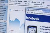 Facebook stocks — Stock Photo