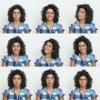 Young girl collection of expressions on white background — Stock Photo #11128004