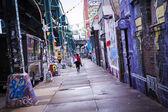 New York street with graffiti — Stock Photo