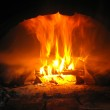 Fire from the furnace — Stock Photo
