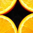 Stock Photo: Four fraction of orange