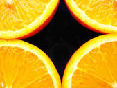 Four fraction of orange — Stock Photo