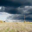 Stock Photo: Beautiful landscape with dark clouds of thunder-storm