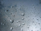 Droplets of water on glass — Stock Photo