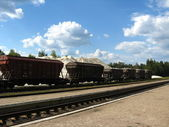 The cars of a freight train — Stock Photo