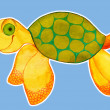 Stock Photo: Cute turtle