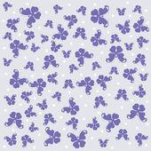 Sfondo vettoriale con sagoma farfalla — Vettoriale Stock