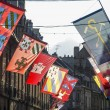 Stockfoto: Dijon - Buildings and flags