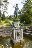 Fontainebleau, garden in the castle, fountain — Stock Photo
